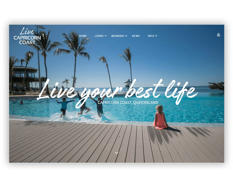 Live Capricorn Coast Homepage